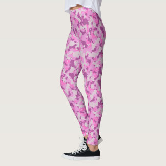 HAMbyWG - Compression Leggings - Pink Camoflage