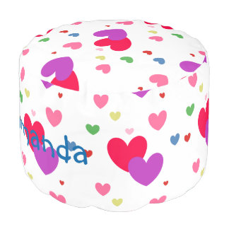 HAMbyWG - Cotton Pouf Chair - Hearts