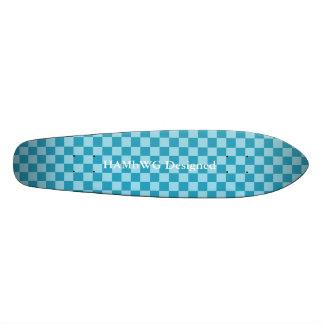 HAMbyWG Designed - Skateboard - Aqua Checkers