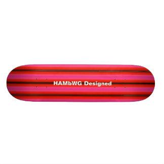 HAMbyWG Designed - Skateboard - Pink Red