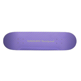 HAMbyWG Designed - Skateboard - Purple Grey Diag.