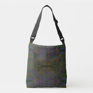 HAMbyWG Designed Tote Bags - Lizard Gray Gold Prpl