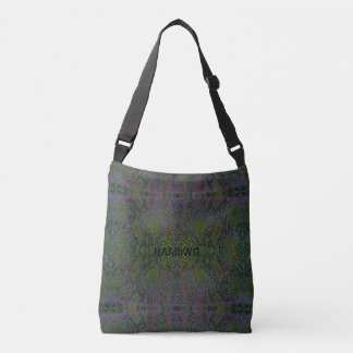HAMbyWG Designed Tote Bags - Lizard Gray Green Prp