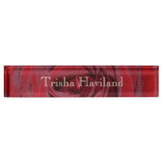 HAMbyWG Desk Name Plate - Classic Red Rose