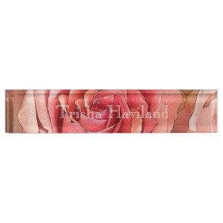HAMbyWG Desk Name Plate - Peach Rose