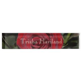 HAMbyWG Desk Name Plate - Rose Bush