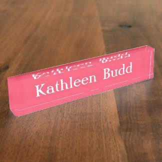 HAMbyWG - Desk Name Plate - Rose Pink