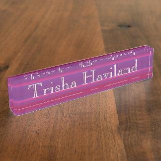 HAMbyWG Desk Name Plate - Rose Pink Violet