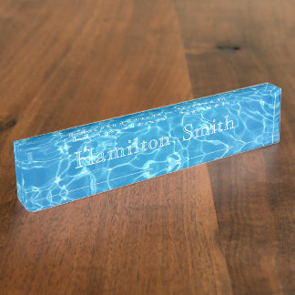 HAMbyWG -Desk Nameplate - Refreshing Waters -