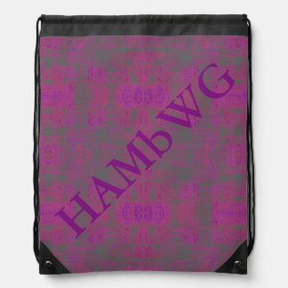 HAMbyWG Drawstring Backpack - Amethyst Distressed