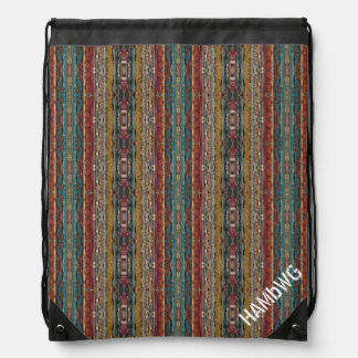 HAMbyWG Drawstring Backpack  Bohemian Ribbon Image