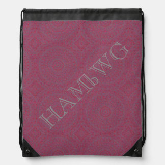 HAMbyWG Drawstring Backpack - Pink Bohemian