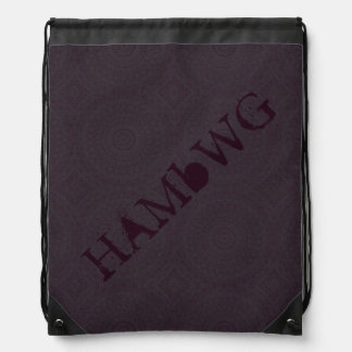 HAMbyWG Drawstring Backpack - Raisin Bohemian