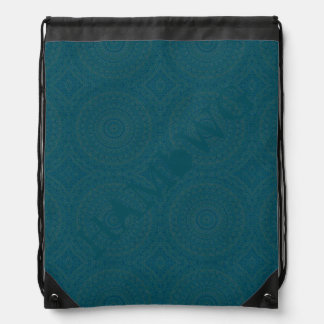 HAMbyWG Drawstring Backpack - Teal Bohemian