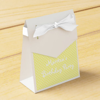 HAMbyWG - Favor Box - Yellow Gingham - Your Words