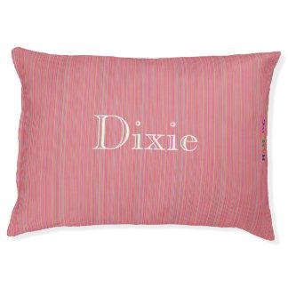 HAMbyWG   Fine Pansy Pink Stripe Stripe Dog Bed