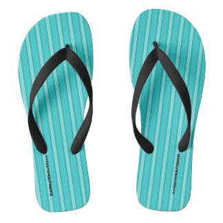 HAMbyWG - Flip-Flops  - Aqua Stripes Thongs
