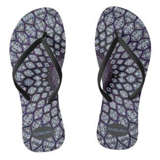 HAMbyWG  Flip-Flops - India Ink Purple Thongs