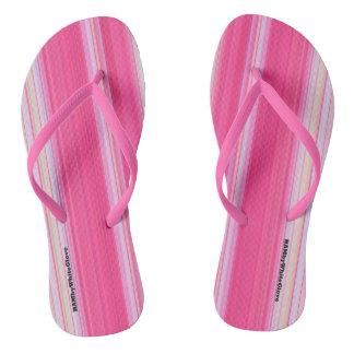 HAMbyWG - Flip-Flops  Light Pink & White Thongs