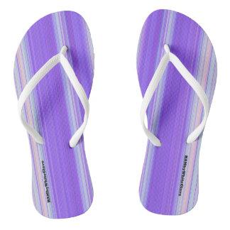 HAMbyWG - Flip-Flops  Light Purple White Thongs