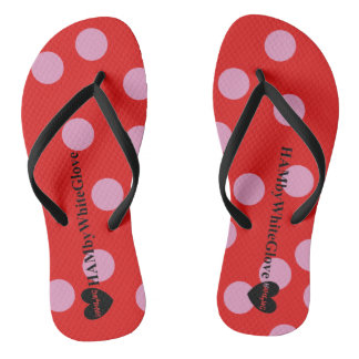 HAMbyWG - Flip-Flops - Lilac/Red Polka Dots Thongs