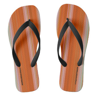 HAMbyWG - Flip-Flops  - Orange Gradient Stripes Thongs
