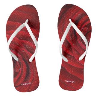 HAMbyWG - Flip-Flops - Red Rose Thongs