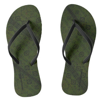 HAMbyWG - Flip-Flops  Snake - Green Boho Thongs