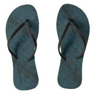 HAMbyWG - Flip-Flops  Snake - Teal Boho Thongs