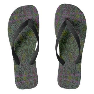 HAMbyWG - Flipp-Flops - Snake w Green Purple Thongs