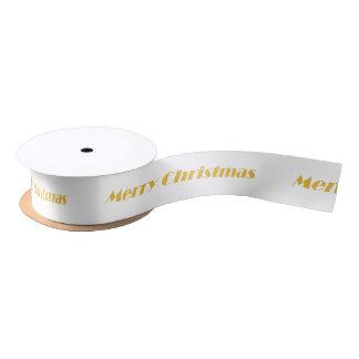 HAMbyWG - Gift Ribbon - Merry Christmas Satin Ribbon