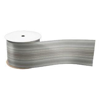 HAMbyWG - Gift Ribbon - Warm Gray Scale Stripe Satin Ribbon