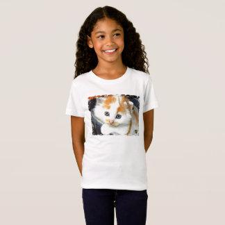 HAMbyWG Girls' Fine Jersey T-Shirt - Kitten