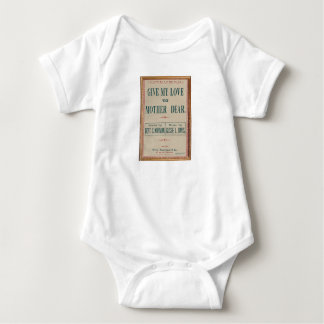 HAMbyWG - Give My Love To Mother Dear Baby Bodysuit