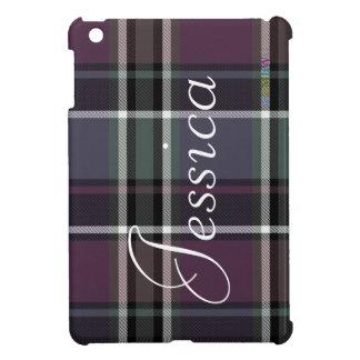 HAMbyWG   Glossy Hard Case - Plaid w Amethyst iPad Mini Case