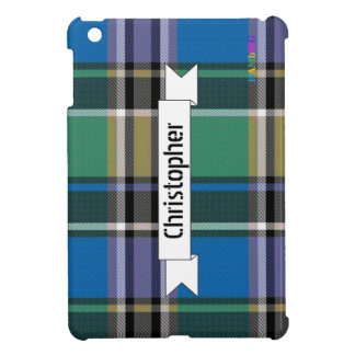 HAMbyWG   Glossy Hard Case - Plaid w Blue iPad Mini Case
