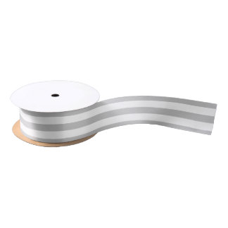 HAMbyWG - Gray & White Stripe Gift Ribbon Satin Ribbon