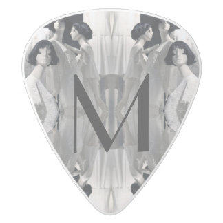 HAMbyWG - Guitar Pic - Mannequins 5 White Delrin Guitar Pick
