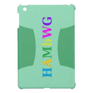 HAMbyWG -Hard Case - Green w Multicolor Logo Case For The iPad Mini
