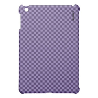 HAMbyWG   Hard Case -  Purple Gingham Cover For The iPad Mini
