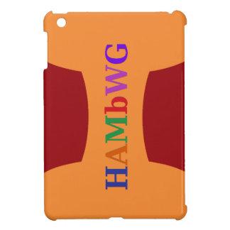 HAMbyWG -Hard Case - Red w Multicolor Logo iPad Mini Cases
