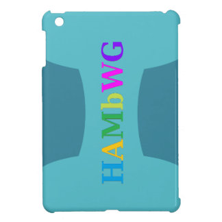 HAMbyWG -Hard Case - Teal w Multicolor Logo Cover For The iPad Mini