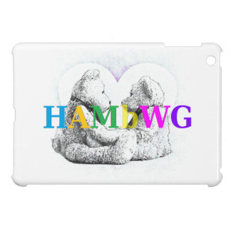 HAMbyWG -Hard Case - Teddy Bears W Heart iPad Mini Cover