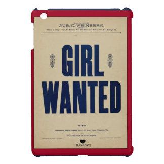 HAMbyWG iPad Mini Hard Case - Girl Wanted iPad Mini Cover