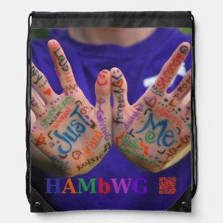 "HAMbyWG  ""Just Me"" Drawstring Backpack"