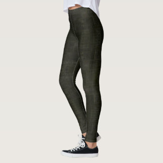 HAMbyWG - Leggings - Darkest Olive Distressed