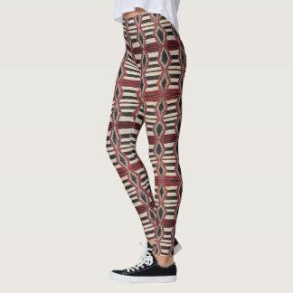HAMbyWG - Leggings Native American Black Red Bone