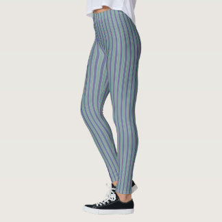 HAMbyWG - Leggings -  Plum with Lime Stripes