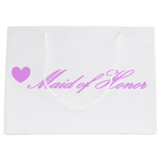 HAMbyWG - Lt Violet Heart Maid of Honor Gift Bag