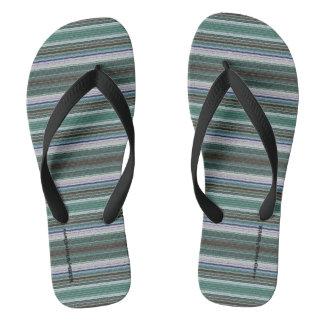 HAMbyWG - Mens Flip-Flops - Blue Rasta Thongs